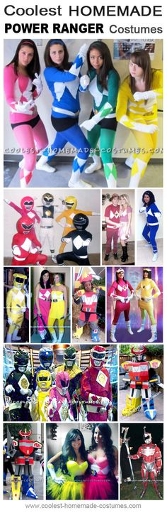 Coolest Homemade Power Ranger Costume Ideas - Halloween Costume Contest