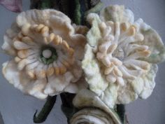 wetfelted flowers
