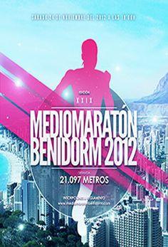 25 de noviembre, XXIX Mediomaratón Ciudad de Benidorm 2012 Movie Posters, Movies, Spaces, Cities, Events, November, Racing, Live, Poster