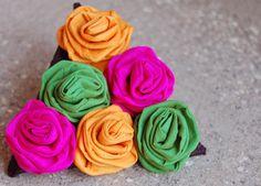 Miniature Rose Geometric Pinback Brooch by magdamagdaFashion, $16.00