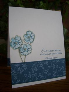 Sympathy Blooms by stampin'nana - Cards and Paper Crafts at Splitcoaststampers