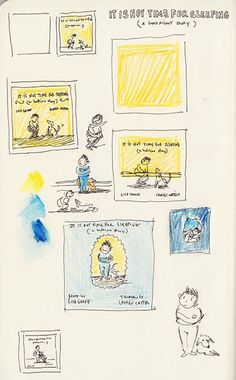 'It Is Not Time For Sleeping' storyboards by Lauren Castillo