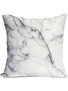 OJIA Luxury Home Decorative Soft Silky Satin Marble Texture Personalized Throw Cushion Cover / Pillow Sham (20 X 20 Inch) ❤ OJIA