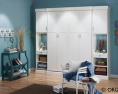 Free standing closet ideas...LOVE THIS...and see a free standing room FUNCTIONAL room divider/wall if done properly!! Excited!!! Ideas flowing...