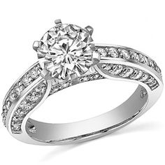 Round Moissanite Cathedral Ring  Model No: eng982