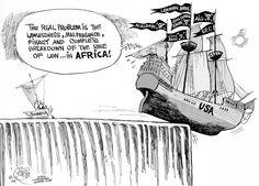 somali piracy cartoon - Google zoeken Somali, Cartoons, Africa, Humor, Google, Movies, Movie Posters, Cartoon, Films