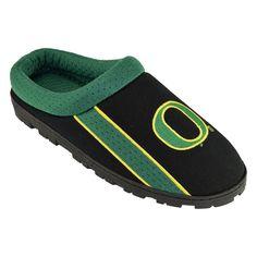 Adult Oregon Ducks Sport Slippers, Men's, Size: Medium, Black