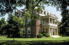 Shirley Plantation on the James River in Charles City Co., Virginia is the… Old Southern Plantations, Southern Mansions, Southern Homes, Southern Charm, Simply Southern, Southern Architecture, Revival Architecture, Shirley Plantation, Red Brick Walls