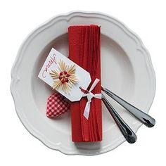 fantastisk papieren servet rood