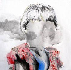 "Saatchi Art Artist Hanna Ilczyszyn; Painting, ""Face-less (SOLD)"" #art"