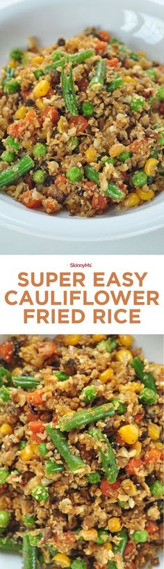 Clean up your diet with Cauliflower Fried Rice, simple and healthy recipe!