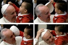 And every other time he displayed his happy, easy rapport with the younger members of the Catholic Church.