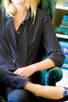 i need this polka dot blouse!