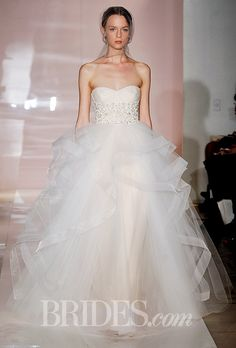 Brides.com: Reem Acra - Fall 2014 - Click to see more from the collection!