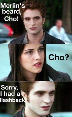 Harry Potter/Twilight jokes that will make you laugh Harry Potter Siempre, Mundo Harry Potter, Harry Potter Jokes, Harry Potter Fandom, Twilight Jokes, Twilight Saga, Vampire Twilight, Lost In Translation, Robert Pattinson