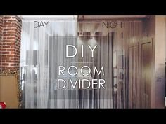 DIY | ROOM DIVIDER @Stephanie Morrison what about a curtain divider instead skip to 3:30 in the video