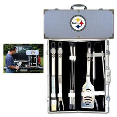 Pittsburgh Steelers NFL 8pc BBQ Tools Set