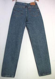 Vintage 90s Blue 512 Levi s High Waisted Tapered Leg Slim Fit Mom Jean  Denim 27