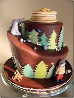 Image result for lumberjack cake decorating