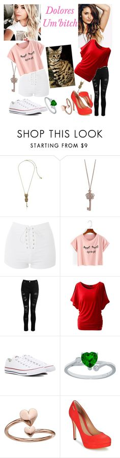"""""""Dolores"""" by mrsnotsoperfect ❤ liked on Polyvore featuring Betsey Johnson, Vera Bradley, Topshop, WithChic, Dorothy Perkins, Converse, Alex and Ani and Dumond"""