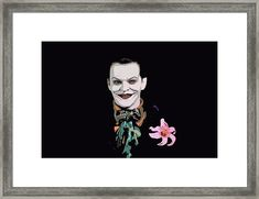 Always Smiling Framed Print by Jeremy Guerin Joker Art, Thing 1, Canvas Prints, Framed Prints, Acrylic Sheets, Always Smile, Got Print, Rich Colors, Hanging Wire