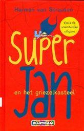 Super Jan en het griezelkasteel  De grote vakantie is begonnen. Maar Jan kijkt er niet erg naar uit. Al zijn vrienden gaan weg, behalve hij. http://www.bruna.nl/boeken/en-het-griezelkasteel-9789020694765