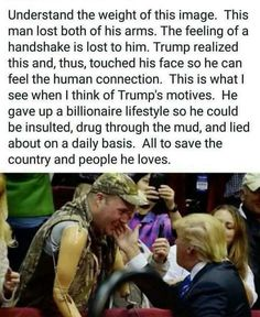 This put a smile on my face. The joy in this man's face is contagious. Donald Trump is human. He's not perfect. But he is our President and deserves our encouragement and prayers. Donald Trump, Landscape Arquitecture, Trump Is My President, Vote Trump, Pro Trump, Human Connection, Conservative Politics, God Bless America, Before Us