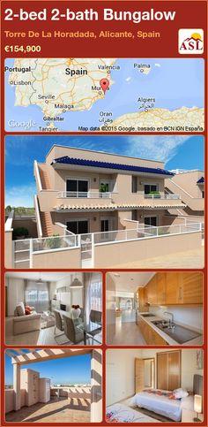 Bungalow for Sale in Torre De La Horadada, Alicante, Spain with 2 bedrooms, 2 bathrooms - A Spanish Life Alicante, Valencia, Underground Garage, Bungalows For Sale, Underfloor Heating, Murcia, Semi Detached, Pent House, Terrace