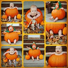 Baby in a pumpkin! Halloween Baby Pictures, Babys 1st Halloween, Fall Baby Pictures, Newborn Pictures, Holiday Pictures, Halloween Diy, Pumpkin Photos, Baby Pumpkin Pictures, Baby Kalender