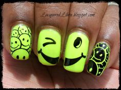 Happy+Face+Nails | ... nails. I've got some happy nails for ya featuring the smiley faces