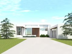 052H-0112: Modern Contemporary House Plan with Separate Office