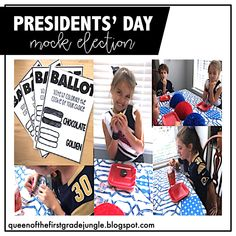 Presidents's Day Mock Election: Students taste test chocolate vs. golden oreos and mark their vote on this FREE printable! They receive voting stickers after.