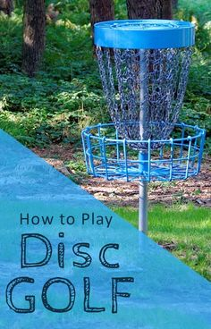 Learn the rules on how to play Disc Golf and the types of Frisbees and Accessories you need. View drivers, midrange, and putters for frisbee golf courses. Backyard Games, Outdoor Games, Outdoor Fun, Backyard Kids, Outdoor Ideas, Disc Golf Rules, Disc Golf Basket, Disc Golf Courses, Camping Games