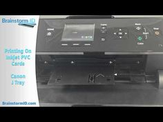 How To Print Pvc Id Cards Using An Inkjet Printer Tutorial Pvc Inkjet Inkjet Printer