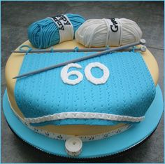 Knitting novelty cake. Only make it croheting.  And ditch the measuring tape!