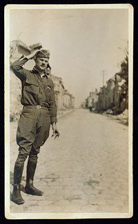 Capt. Robert Marshall, 58th Inf. In Fismes  This image is from Set 1: The Great War, A Photo Essay.