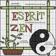 Pays - country - asie zen - point de croix - cross stitch - Blog : http://broderiemimie44.canalblog.com/