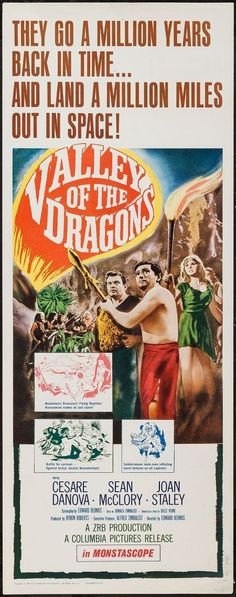 Valley of the Dragons (1961) used more stock footage of lizards as dinosaurs in the history of Earth.