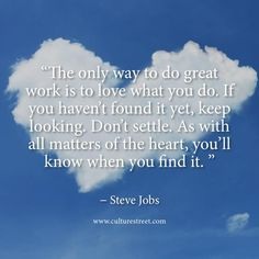Culture Street | Quote of the Day from Steve Jobs