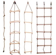 Direct Factory Outlets Outdoor Rope Climbing Ladder Safety Antifire Wooden Climb Ladder For Kids Cat Playground, Natural Playground, Backyard Playground, Kids Outdoor Play, Backyard For Kids, Diy For Kids, Diy Ladder, Rope Ladder, Kids Climbing