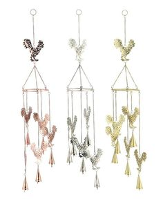 Metal Rooster Wind Chime