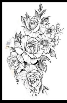 Floral Hip Tattoo, Floral Mandala Tattoo, Lily Flower Tattoos, Flower Tattoo Arm, Floral Tattoo Design, Rose Tattoos, Leg Tattoos, Hip Tattoos Women, Tattoos For Women Small