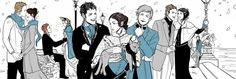 Drawn by Cassandra Jean ...  cecily herondale, charlotte fairchild/branwell, church, gabriel lightwood, gideon lightwood, henry branwell, james 'jem' carstairs, jessamine lovelace, magnus bane, sophie collins, the infernal devices, theresa 'tessa' gray, william 'will' herondale