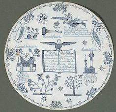 """Gift Drawing from Holy Mother Wisdom to Sally Lomise. Attributed to Sarah Bates (1792-1891) New Lebanon, New York 1847. Ink on Cut Paper. 6 3/4"""" diameter. American Folk Art Museum, promised gift of Ralph Esmerian, Photo: copyright 2000 John Bigelow Taylor.  New York. Currently on exhibit : Jubilation/Rumination: Life, Real and Imagined"""