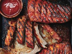 Summer grilling season is here. Find out how to cook ribs on the grill, perfectly—every time. Healthy Grilling Recipes, Grilled Steak Recipes, Grilled Meat, Cooking Recipes, Cooking Ribs, Marinated Pork, Barbecue Pork Ribs, Ribs On Grill, Bbq Meat