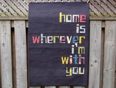 More Than Words: Text Fabrics and Text Quilts