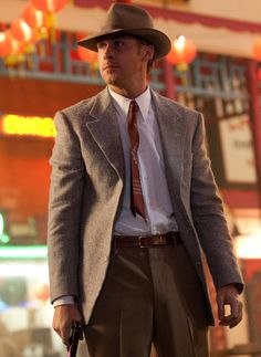 Ryan Gosling as sergent jerry wooters in gangster squad
