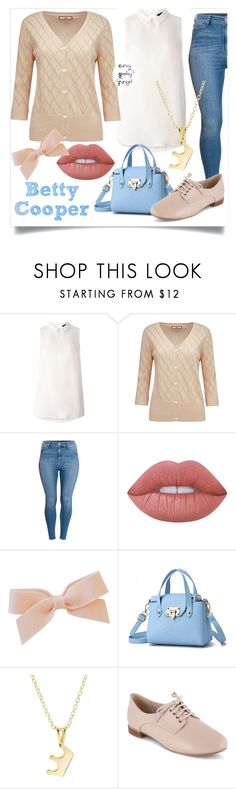 """""""Riverdale: Betty Cooper"""" by curvygeekyfangirl ❤ liked on Polyvore featuring Dorothy Perkins, Joe Browns, Lime Crime, Dainty Edge and Clarks"""