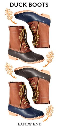 The classic Duck Boot - perfect for weekend adventures by the sea and splashing in rainy day puddles. See how we're wearing it this Fall at Lands' End. Duck Boots, Rain Boots, Shoe Boots, Cute Shoes, Me Too Shoes, Over Boots, Crazy Shoes, Passion For Fashion, Autumn Winter Fashion