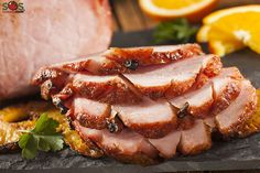 Slow cooking a ham will produce the best results and it eliminates the risk of the meat drying out. The ham will stay moist and succulent, soaking up the rich flavors of the glaze. Crock Pot Recipes, Ham Recipes, Slow Cooker Recipes, Cooking Recipes, Kraft Recipes, Easter Recipes, Slow Cooking, Honey Baked Ham Recipe, Maple Glazed Ham